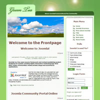Free Green tea Joomla theme