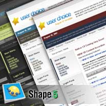 Bliss Joomla theme from Shape 5