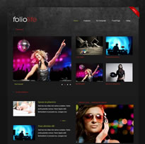 Dark folio Joomla Theme