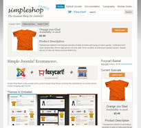 Simple Joomla online store